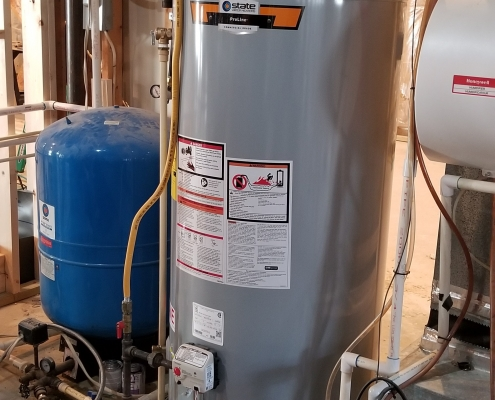 75-gallon Gas Water Heater and Well Tank