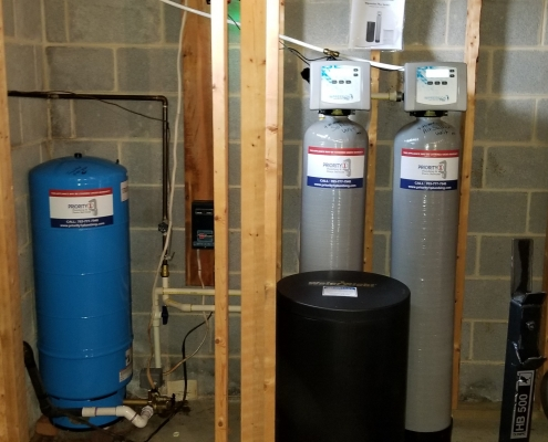 Water Softener Air Sulfer Unit and Well Tank